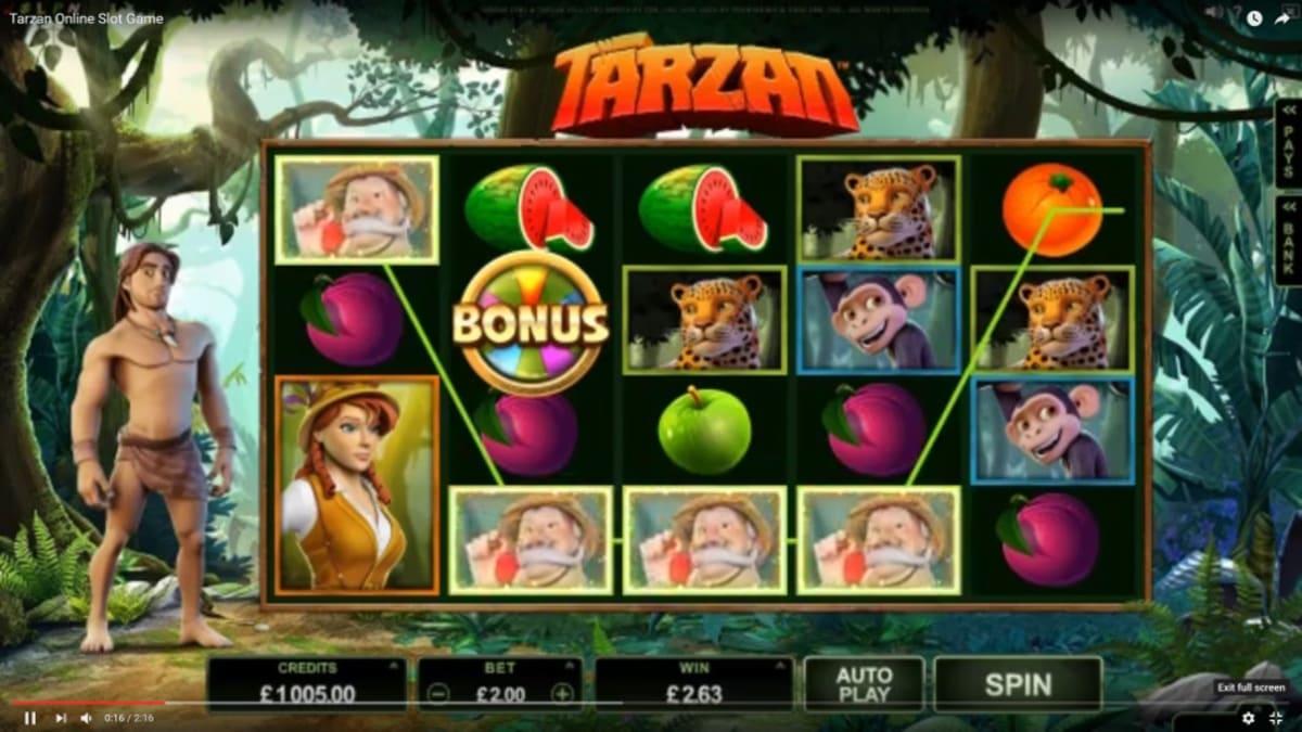 Tarzan-Slot-lines